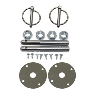 Spectre 4257 Chrome Hood Pin Torsion Clip Kit